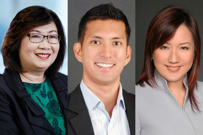 (From left) Ms Ginney Lim, Mr Faz Hussen and Ms Theresa Low are top corporate lawyers in Singapore.