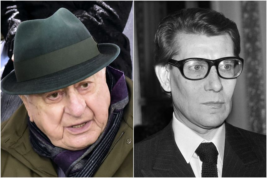Pierre Berge (left) and his partner Yves Saint Laurent, who died in 2008.