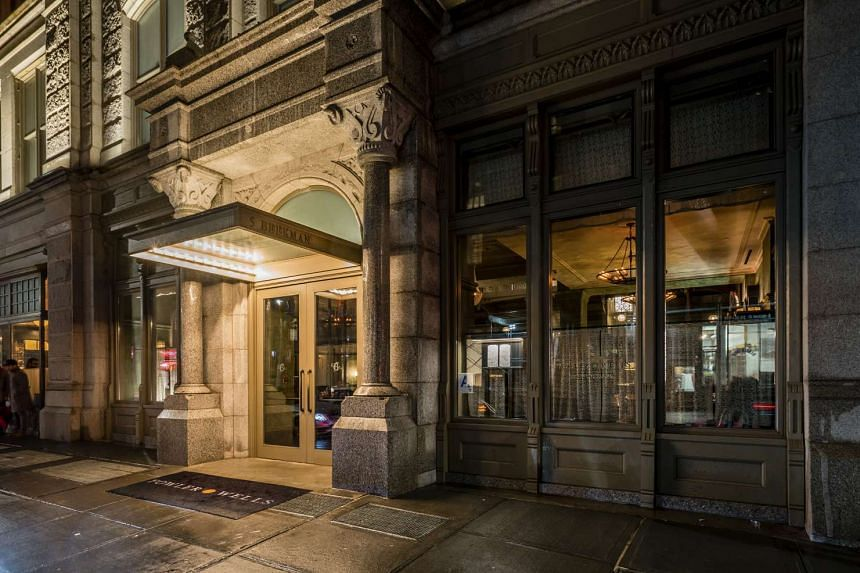 Outside Fowler & Wells, Tom Colicchio's restaurant in the Beekman hotel, in New York.