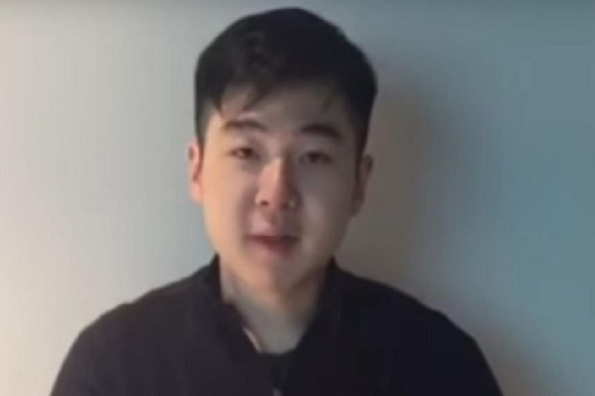The man claiming to be Kim Han Sol, the 22-year-old son of Kim Jong Nam.