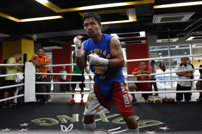 The proposed match between Manny Pacquiao (pictured) and Amir Khan has been postponed, at least until the second half of 2017.