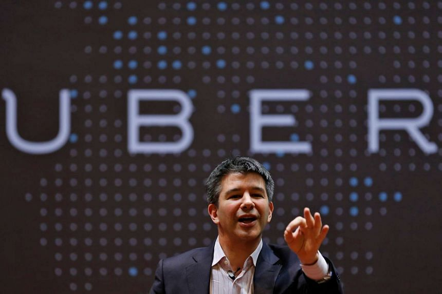 Uber CEO Travis Kalanick speaks to students during an interaction at the Indian Institute of Technology (IIT) campus in Mumbai.