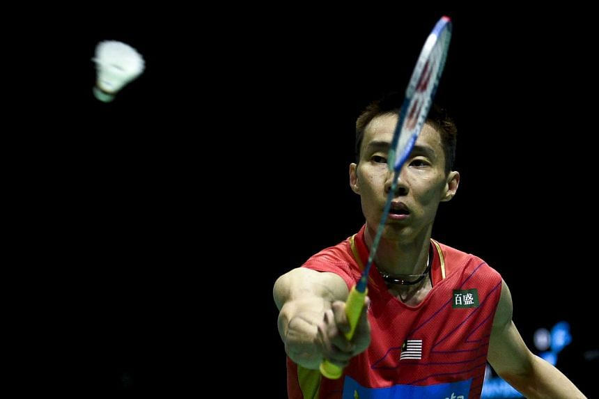 Lee (above, in a file photo) squeezed through 21-18, 21-18 against the world number 21 from Taiwan.