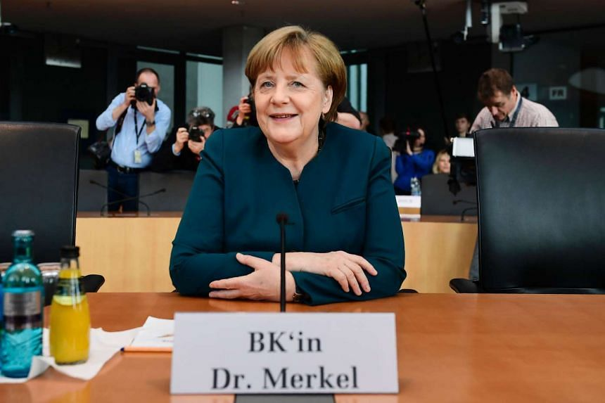 Merkel attends a parliamentary commission hearing investigating the diesel emissions scandal involving German carmaker Volkswagen, March 8, 2017.