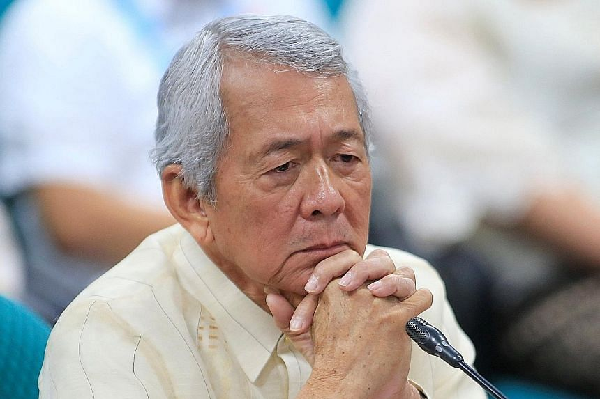 Mr Yasay at the Commission on Appointments hearing at the Senate building in Manila yesterday.
