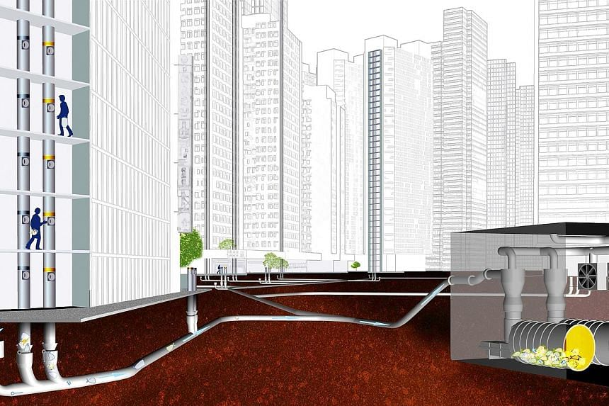 A pneumatic waste conveyance system will be mandatory in new private developments with at least 500 units.