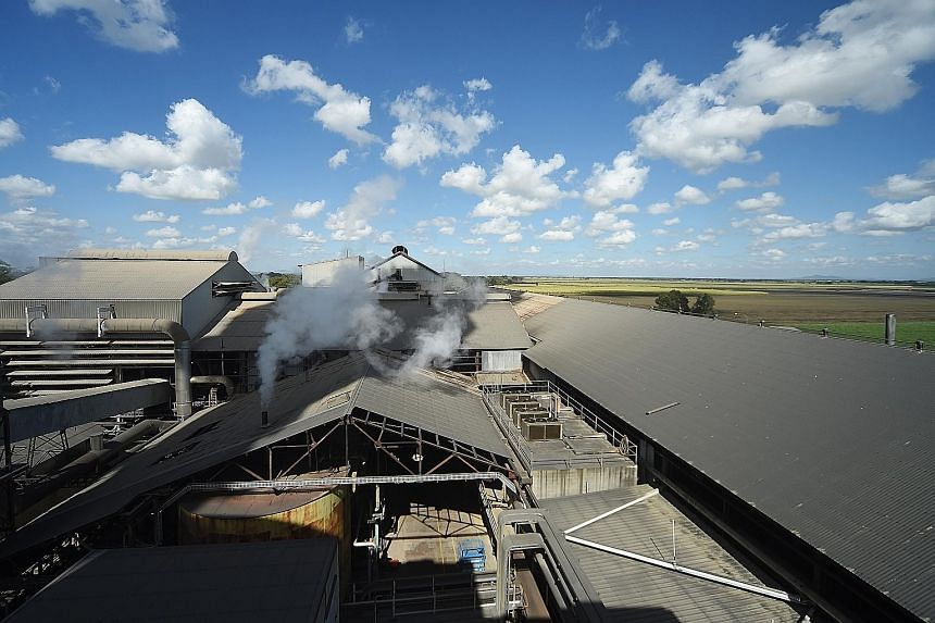 A Wilmar Sugar Australia processing plant near Ayr, Queensland. Since 2015, Wilmar has bought more than five billion kg of sugar at US$2.3 billion, enough to fill 3,000 Olympic-size swimming pools.