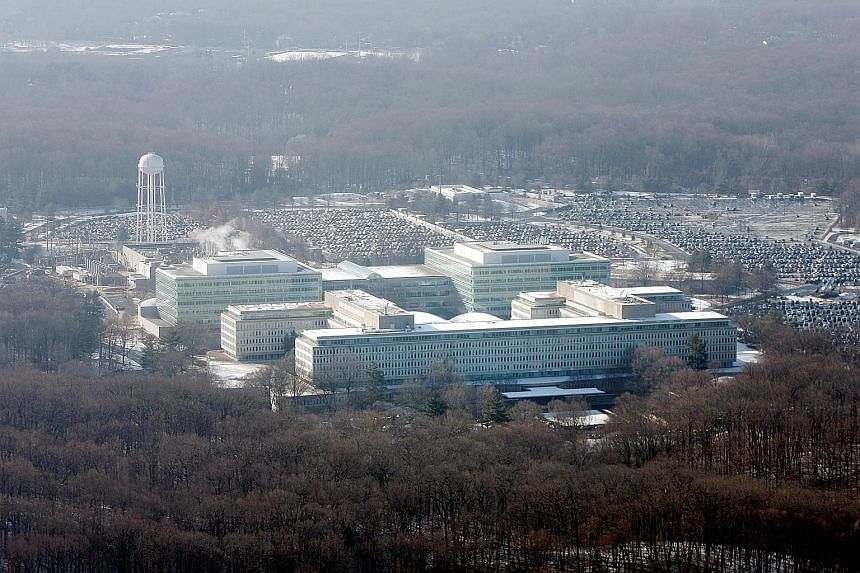 It was not immediately clear if the CIA - whose headquarters (left) is in Langley in Virginia - had sent a crimes report to the Justice Department, a formal mechanism alerting law enforcement agencies of a potentially damaging and illegal national se