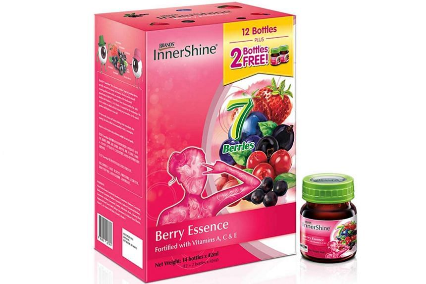 BRAND'S® InnerShine® Berry Essence is fortified with zinc and vitamins A, C and E. Vitamin A is essential in the functioning of the eye.