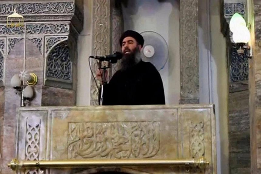 A man purported to be the reclusive leader of the militant Islamic State Abu Bakr al-Baghdadi making what would have been his first public appearance, at a mosque in the centre of Mosul, Iraq, according to a video recording posted on the Internet on