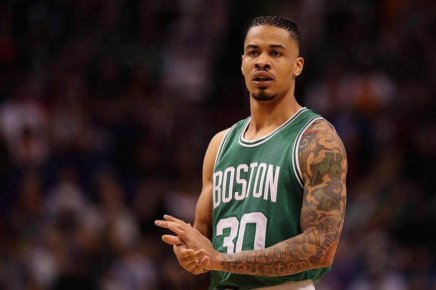 Gerald Green of the Boston Celtics stands on the court during the first half of the NBA game against the Phoenix Suns at Talking Stick Resort Arena in Phoenix, Arizona on March 5, 2017.