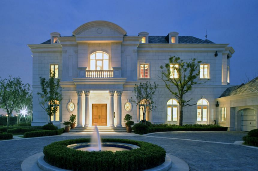 A luxury villa in Shanghai, which sold for a record 205 million yuan (S$45.9 million).