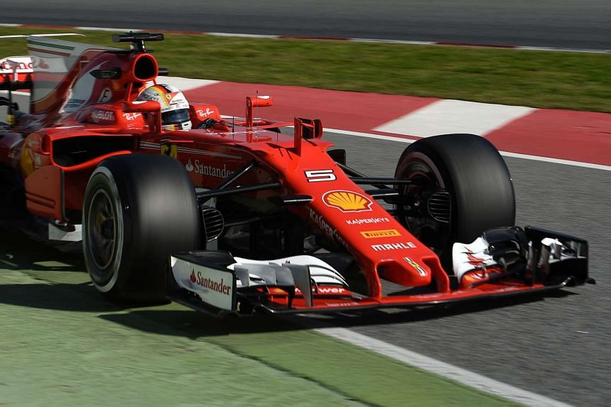 Ferrari's Sebastian Vettel on March 9, 2017 - the third day of the second week of tests ahead of the Formula One Grand Prix season.