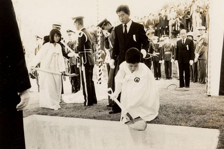 A handout photo of Park Geun Hye attending her father and then President Park Chung Hee's funeral.