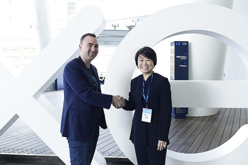 Xero Asia managing director Alex Campbell and DBS group head of SME banking Joyce Tee announced the partnership to help small and medium-sized enterprises at a Xero roadshow yesterday.