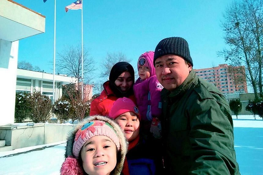 Mr Mohd Nor Azrin Md Zain, counsellor at Malaysia's embassy in Pyongyang, his wife and children are among the nine Malaysians still stranded in North Korea after a row between the two countries over Mr Kim Jong Nam's murder last month.