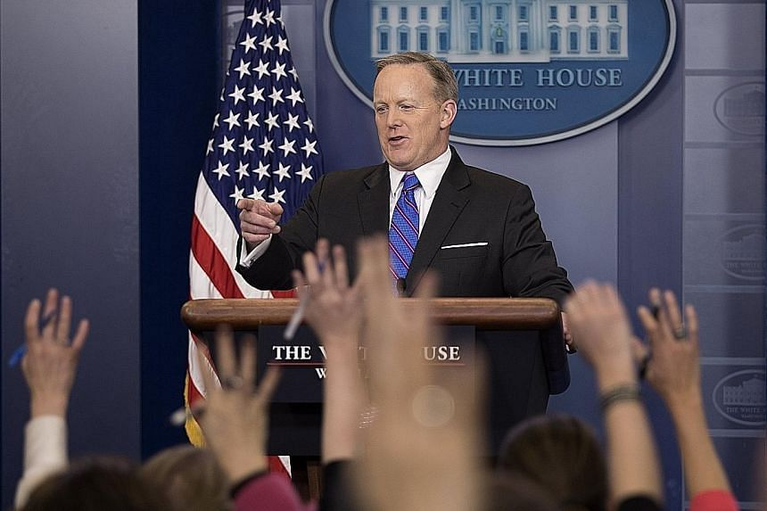 """There is """"no reason to believe there is any type of investigation with respect to the Department of Justice"""", White House Press Secretary Sean Spicer said on Wednesday."""