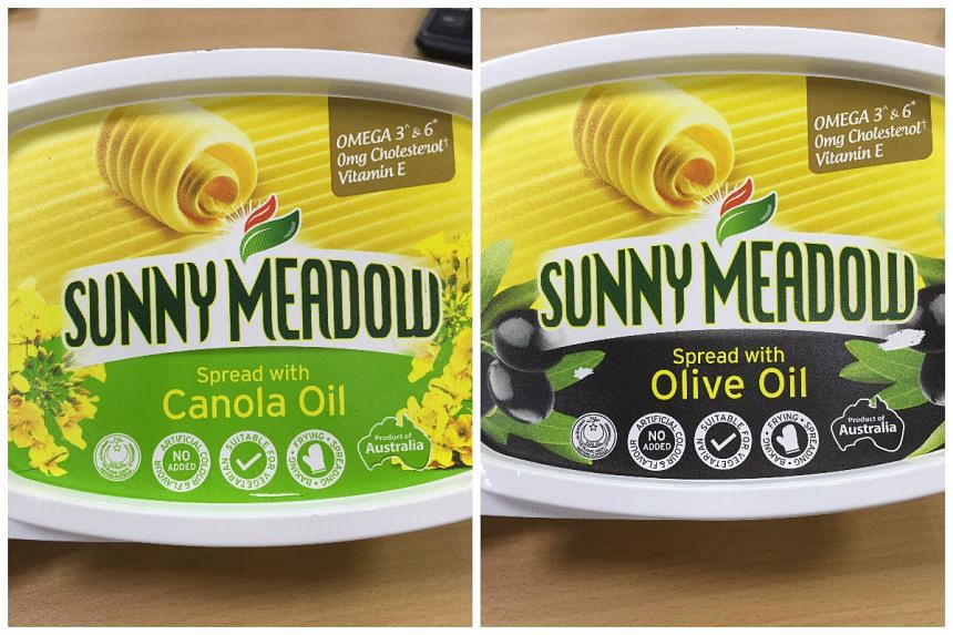 Sunny Meadow Spread with Canola Oil (500g) and Sunny Meadow Spread with Olive Oil (500g).