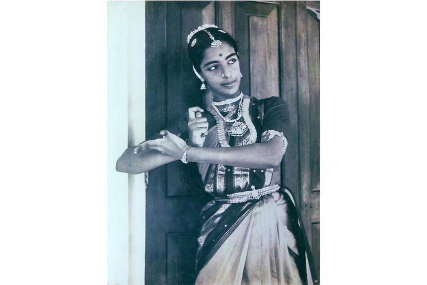 Mrs Neila Sathyalingam, aged about 20, performing at Kalakshetra dance school in Chennai, South India.