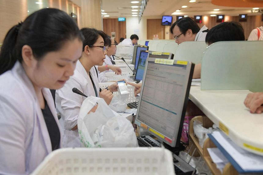 The outpatient pharmacy at the Singapore General Hospital.