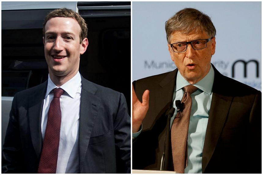 Mark Zuckerberg (left) and Bill Gates (right), both dropped out of Harvard University.