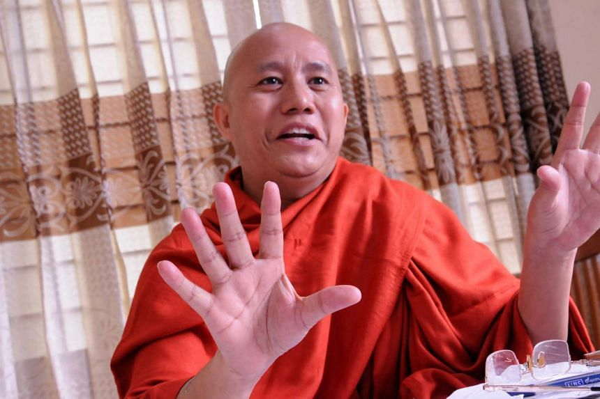 Wirathu (above, in a 2015 file photo) has led calls for restrictions on Myanmar's Muslim population.