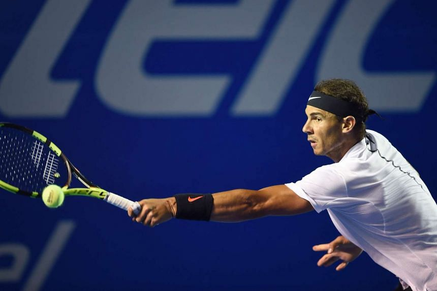 Spanish tennis player Rafael Nadal at the doubles finals of ATP of the Mexican Tennis Open in Acapulco, Guerrero State, Mexico, on March 4, 2017.