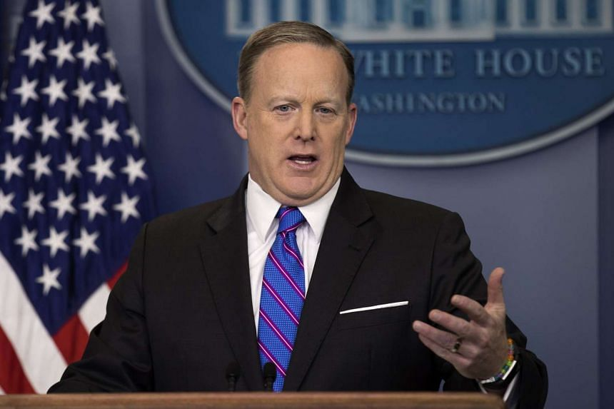 White House press secretary Sean Spicer holds a daily briefing on March 8, 2017.