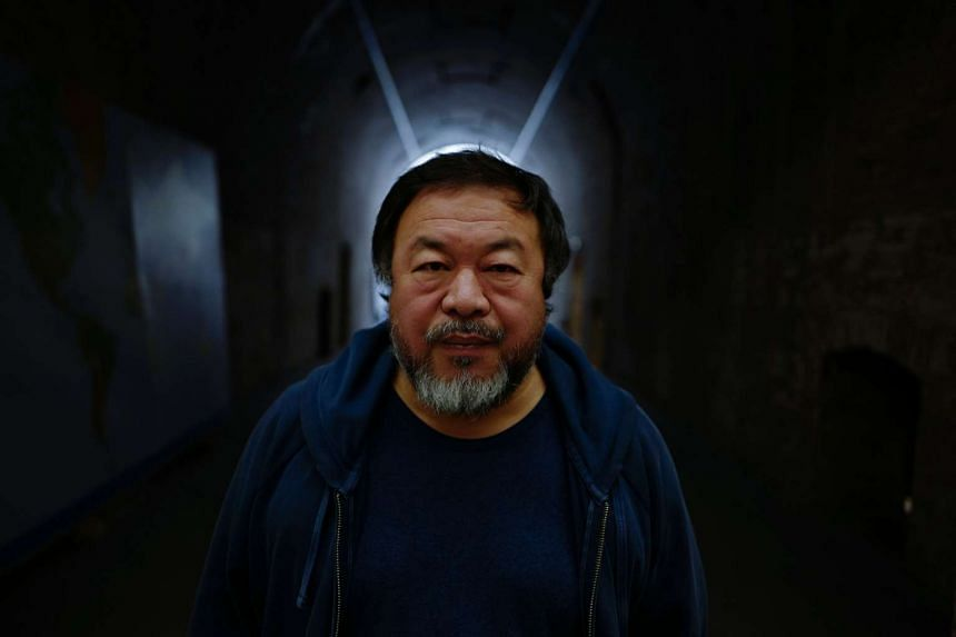 Chinese artist Ai Weiwei in his studio in Berlin.