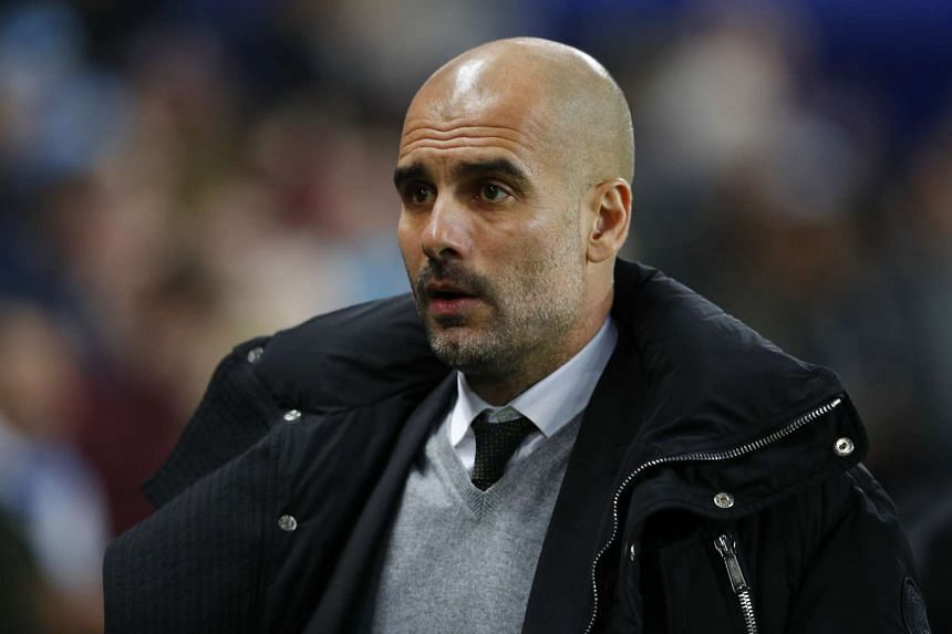 Manchester City manager Pep Guardiola before the Premier League match between Manchester City and Stoke City at Etihad Stadium  on March 8, 2017.