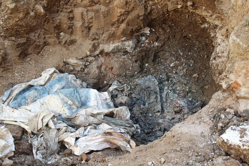 View of the remains of bodies discovered in the General Penitentiary of Venezuela, which had been closed down, in San Juan de los Morros, Guarico state, on March 10, 2017.