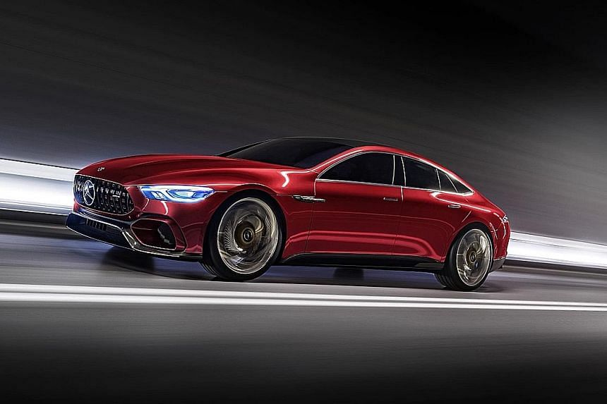 The Mercedes-AMG GT concept.