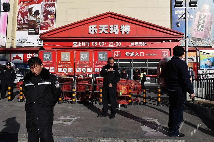 A Lotte Mart in Beijing on Thursday. China has closed nearly half of South Korean group Lotte's stores.