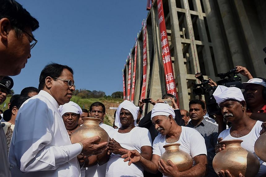 Mr Sirisena at the inauguration of a reservoir project in January. The President had earlier promised to address the country's war past but critics say he has since backed away from that commitment.