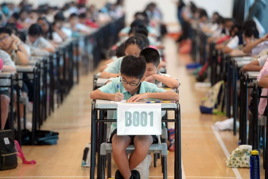 The preliminary round of the RHB-The Straits Times National Spelling Championship on Saturday (March 11).