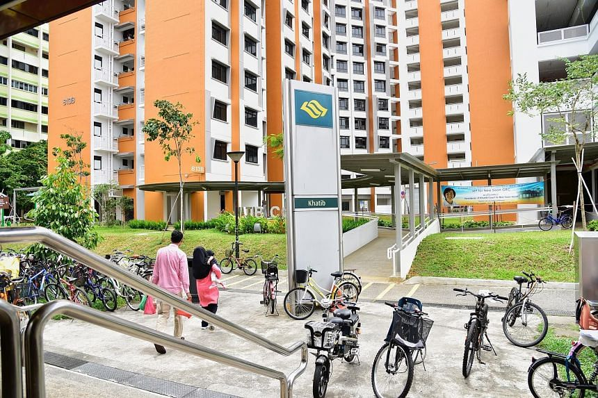 """The walkway from the Khatib Court estate to Khatib MRT station stops 10m short of the station's main entrance. The HDB and LTA said the last part of the walkway has not been constructed because the area is a """"designated emergency fire escape route""""."""