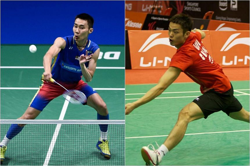 Malaysia's Lee Chong Wei (left) and China's Lin Dan experienced contrasting fortunes at the All-England Open.