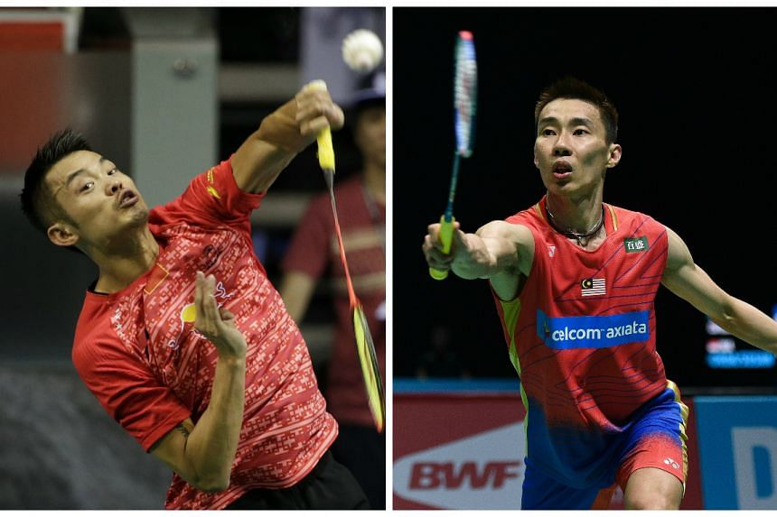 China's Lin Dan (left) and Malaysia's Lee Chong Wei in action.