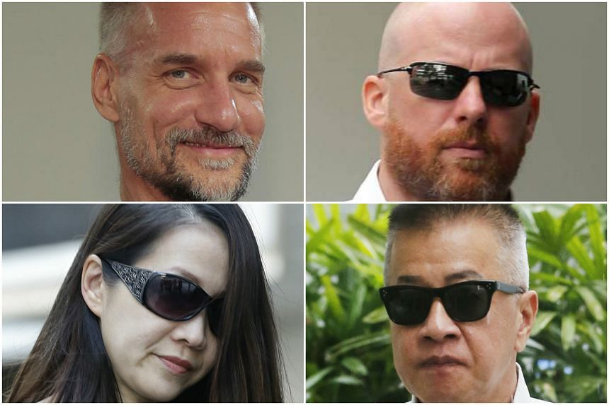 MAS has issued a 10-year prohibition order against Tim Leissner (top left), and said it is seeking prohibition orders against (clockwise, from top right) Jens Sturzenegger, Yak Yew Chee and Yvonne Seah Yew Foong.