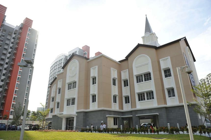 Exterior of the Church of Jesus Christ of Latter-Day Saints in Singapore.