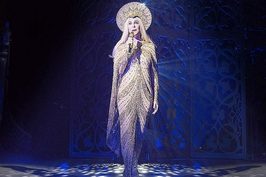 Cher, 70, performing at Park Theater Monte Carlo in Las Vegas last month.