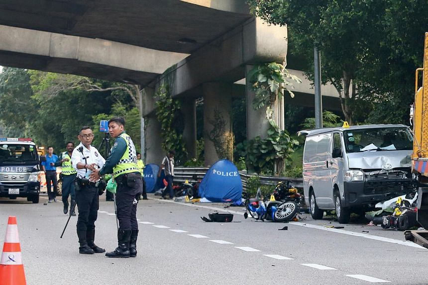 Koh Boon Ping was arrested on Saturday after his van drove into several motorcyclists who were taking shelter under a flyover on the BKE.
