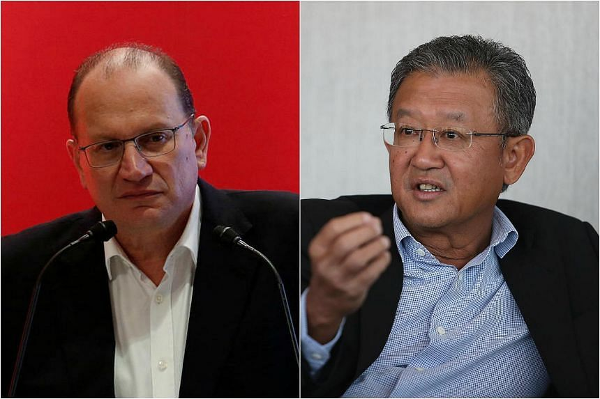 HSBC named insurance executive Mark Tucker (left) to succeed Douglas Flint as chairman and AIA regional CEO Ng Keng Hooi will immediately become CEO-designee and formally succeed Tucker on Sept 1.