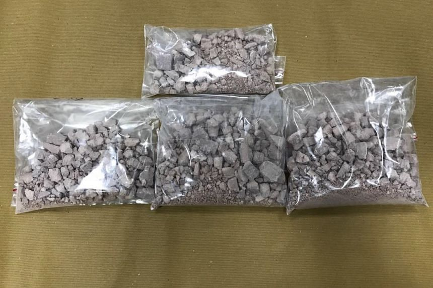 Heroin seized at Woodlands Checkpoint on March 11, 2017.