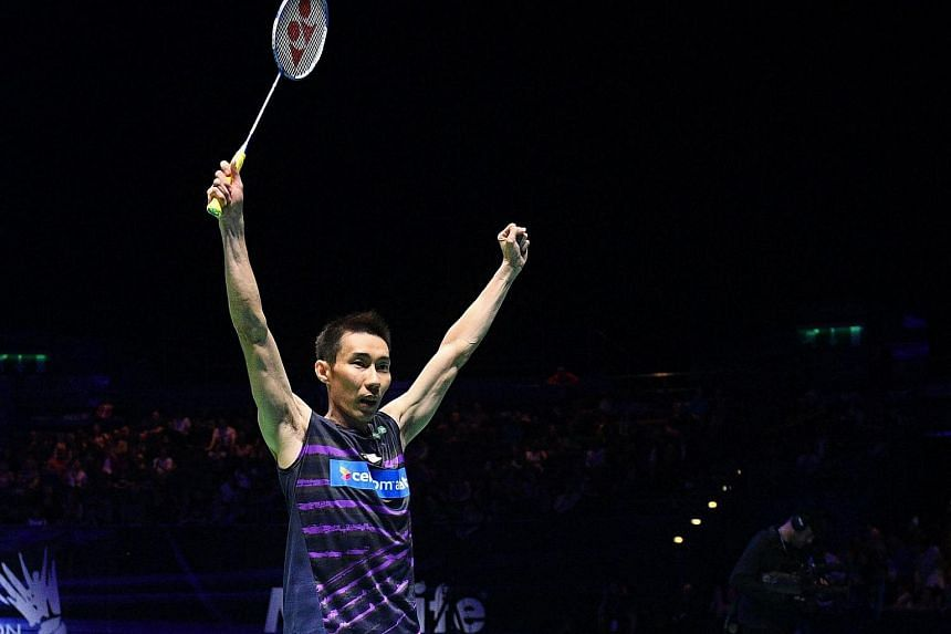 Malaysia's Lee Chong Wei celebrating his victory following the All England Open Badminton Championships men's singles final match, on March 12, 2017.
