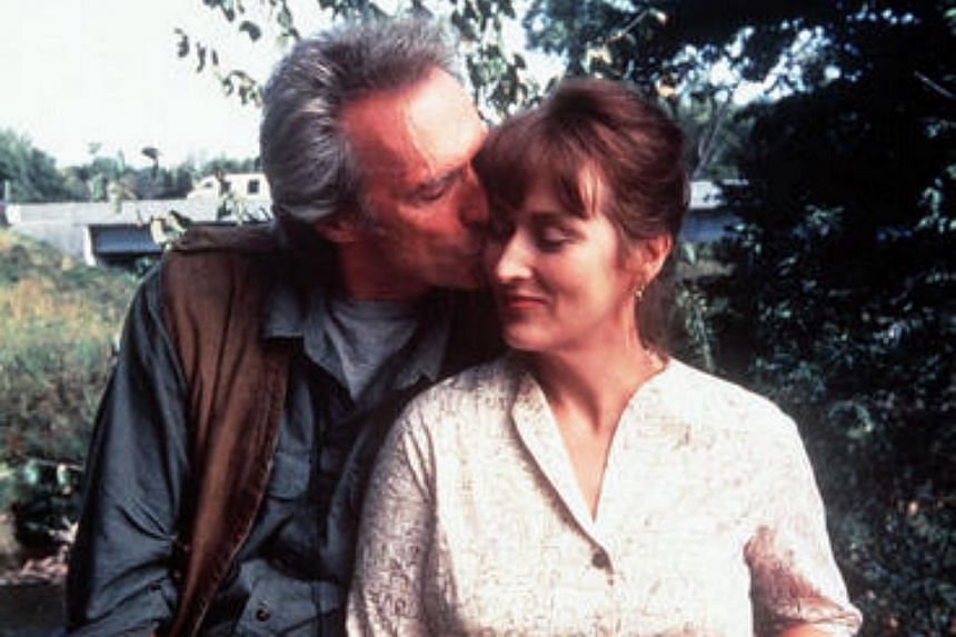 Cinema still from the 1995 film The Bridges Of Madison County starring Clint Eastwood and Meryl Streep.