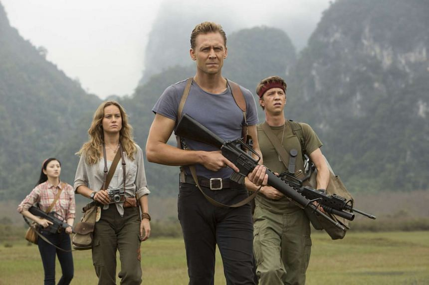 Tom Hiddleston leads an all-star cast in the search for Kong on Skull Island.