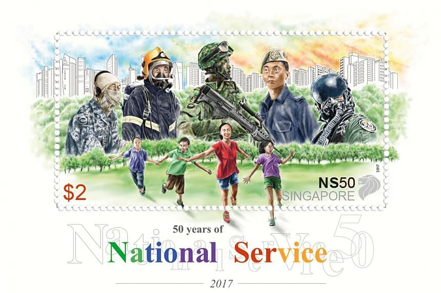 The NS50 stamp set has five denominations - 1st local, 70 cents, 90 cents, $1.30, and $2.