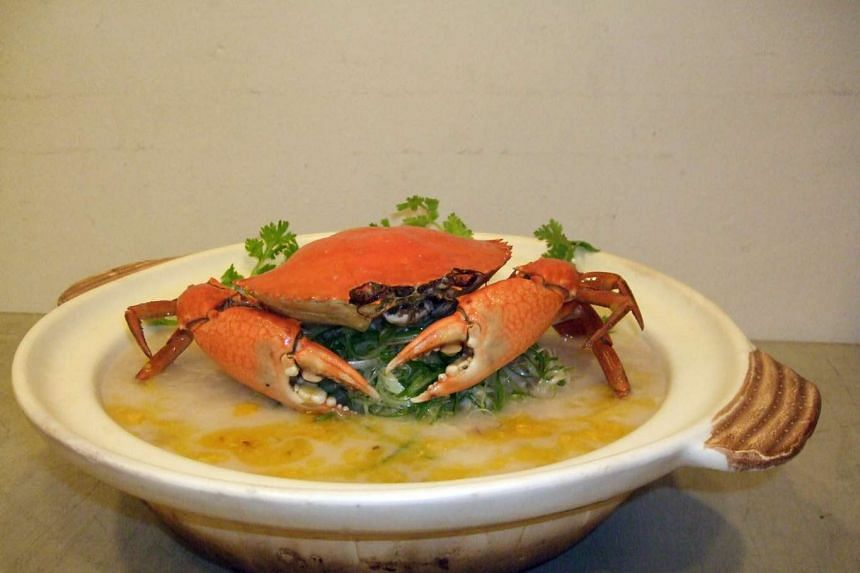 Crab congee from Tonny Restaurant, located at 325/327 Joo Chiat Road.