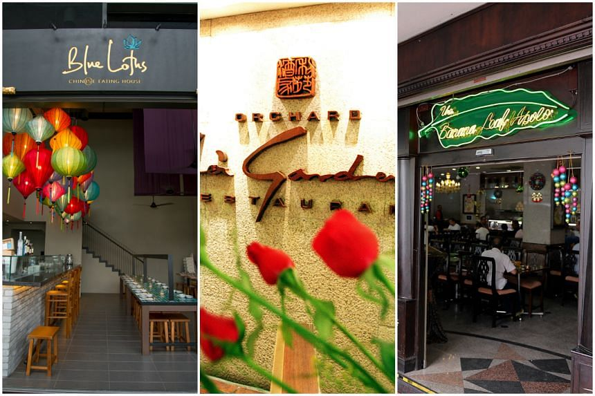 (From left to right) Blue Lotus Chinese Eating House, Lei Garden Restaurant and The Banana Leaf Apolo are three of 30 restaurants honoured in the bronze category of Best Asian Restaurants awards.